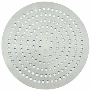 "Winco - APZP-20SP - Aluminum Super-Perforated Pizza Disk, 20"" Diameter, 758 Holes - Pizza Supplies"