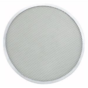 "Winco - APZS-14 - 14"" Seamless Pizza Screen, Aluminum - Pizza Supplies"