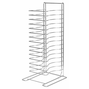 Winco - APZT-1015 - Pizza Rack, 15 Slots, Aluminum - Pizza Supplies