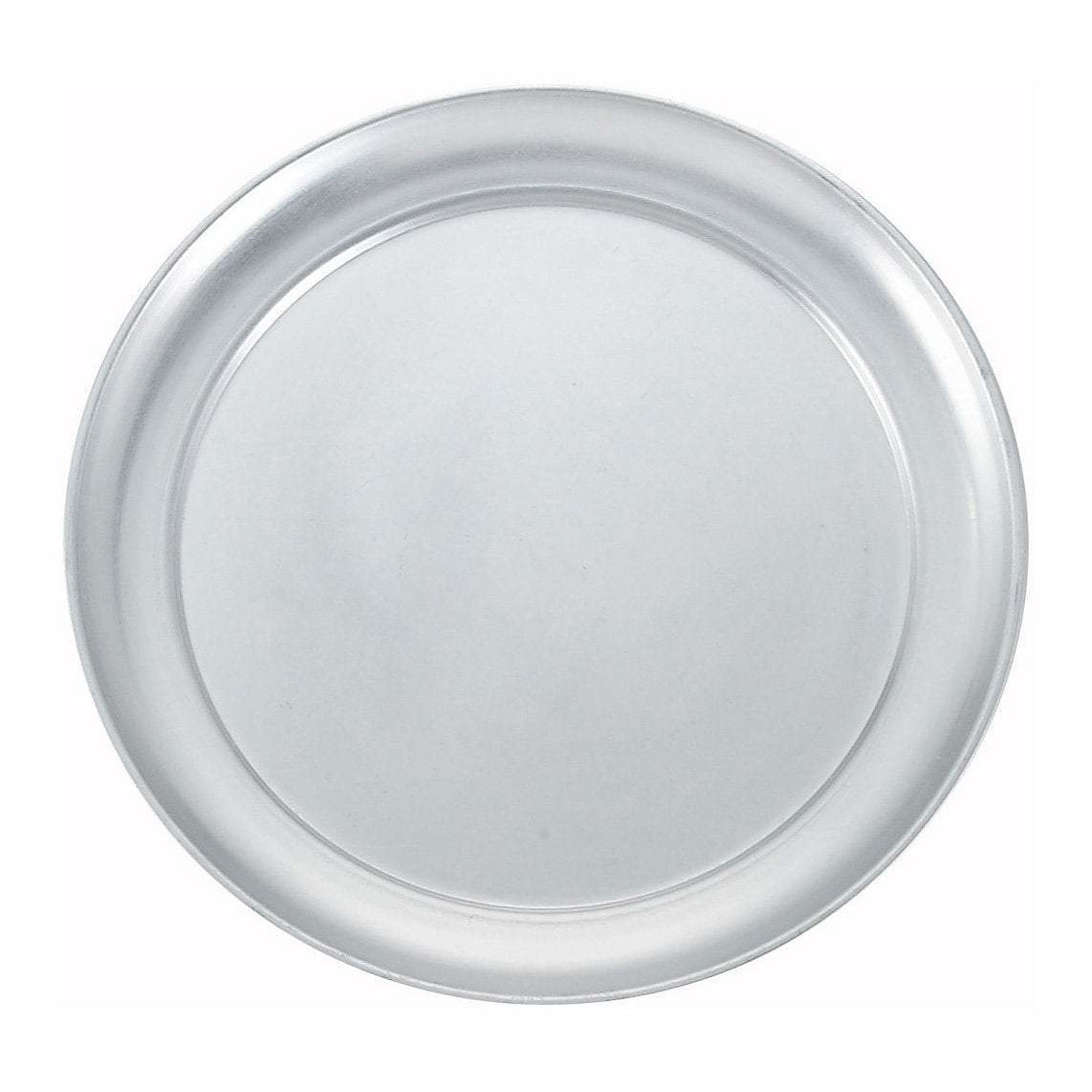 "Winco - APZT-10 - 10"" Wide Rim Pizza Tray, Aluminum - Pizza Supplies"