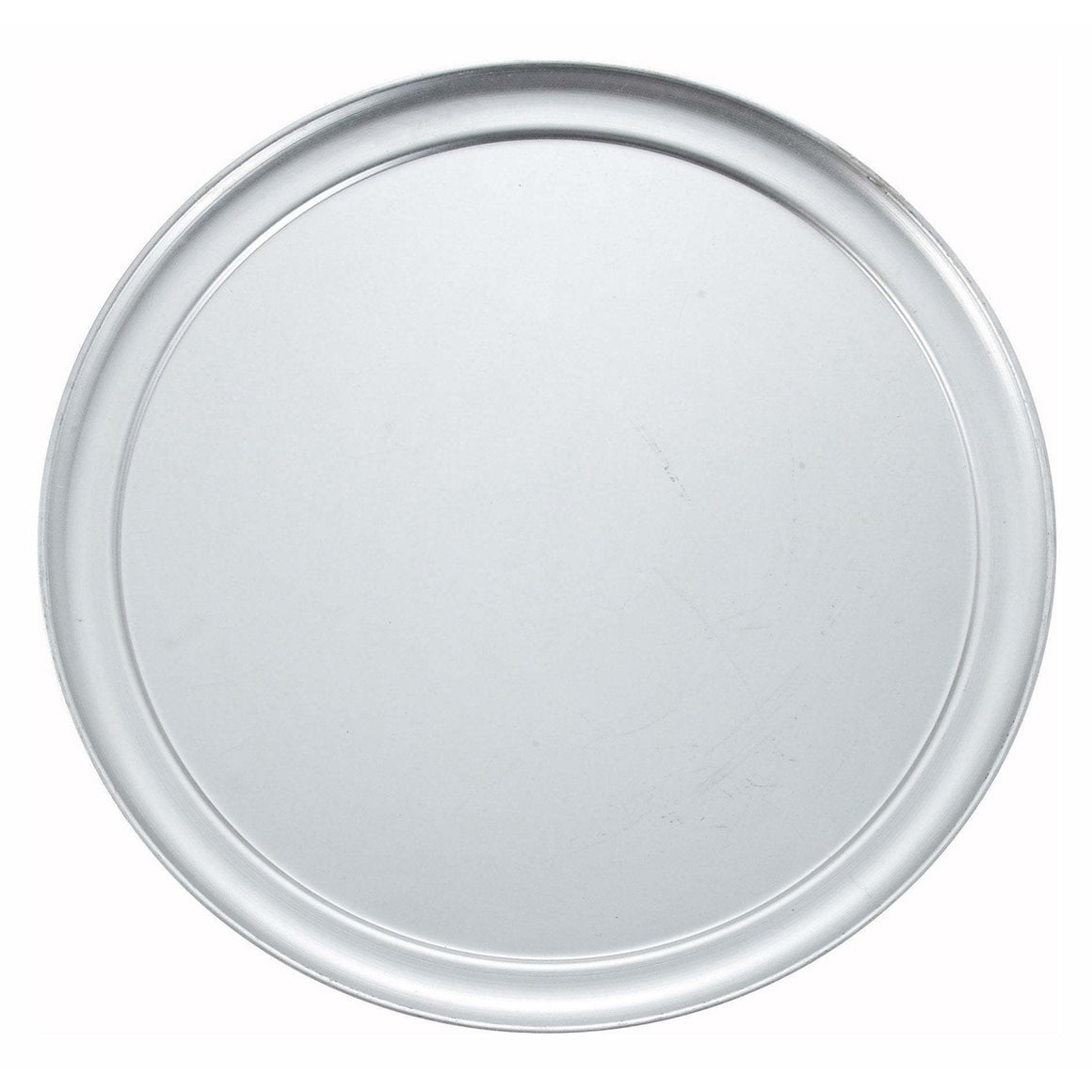 "Winco - APZT-13 - 13"" Wide Rim Pizza Tray, Aluminum - Pizza Supplies"