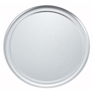 "Winco - APZT-14 - 14"" Wide Rim Pizza Tray, Aluminum - Pizza Supplies"