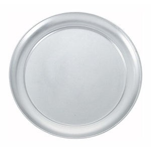 "Winco - APZT-9 - 9"" Wide Rim Pizza Tray, Aluminum - Pizza Supplies"