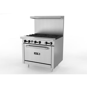 "Asber -36"" Range with Oven Restaurant -New Commercial  -AB-AER636-91416-N - Maltese & Co New and Used  restaurant Equipment"