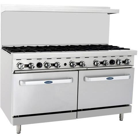 "CookRite - 60"" Gas Range, 10 Open Burners, Two 26.5"" Wide Ovens - Liquid Propane - Maltese & Co New and Used  restaurant Equipment"