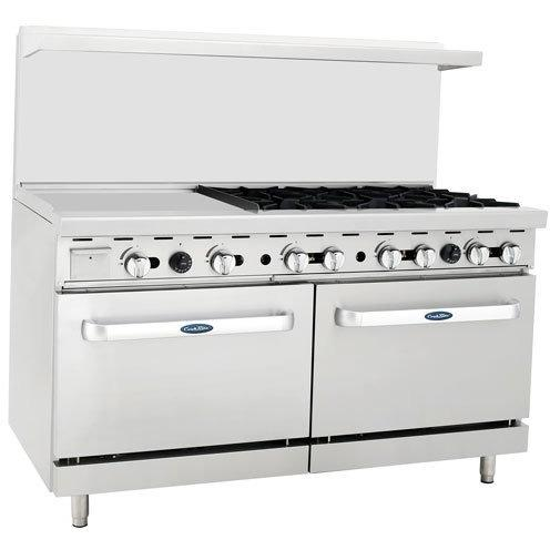 "CookRite - 36"" Gas Range, 6 Open Burners, 24"" Left Griddle, Two 26.5"" Wide Oven - Natural Gas - Maltese & Co New and Used  restaurant Equipment"