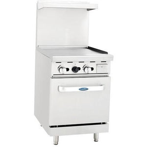"CookRite - 24"" Gas Range, 24"" Wide Griddle, 20"" Wide Oven - Natural Gas - Maltese & Co New and Used  restaurant Equipment"
