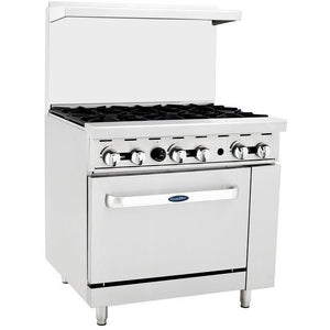 "CookRite - 36"" Gas Range, 6 Open Burners, 26.5"" Wide Oven - Liquid Propane - Maltese & Co New and Used  restaurant Equipment"