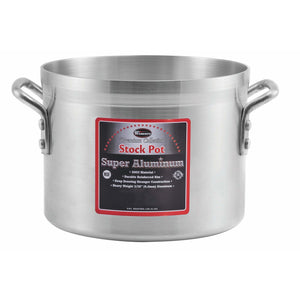 Winco - AXS-80 - 80qt Alu Stock Pot, 4mm, Super Aluminum - Cookware - Maltese & Co New and Used  restaurant Equipment