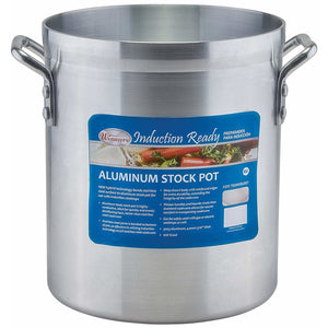 Winco - AXSI-10 - 10qt Induction Ready Alu Stock Pot, w/ Stainless Steel Bottom, 4mm - Cookware - Maltese & Co New and Used  restaurant Equipment