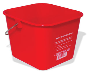 Crestware BUCMR Med. Red Cleaning Bucket 6 qt - Maltese & Co New and Used  restaurant Equipment