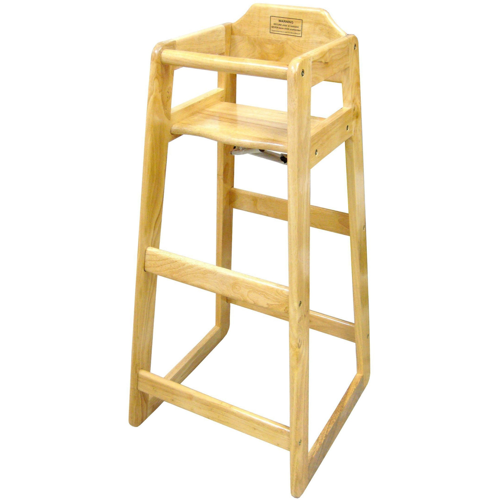Winco chh 601 natural wood pub high chair counter height kd dining service