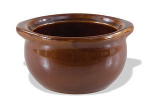 "Crestware - CM4BR - 16 oz. Brown Soup Crock, 5 1/2"" bowl - Maltese & Co New and Used  restaurant Equipment"