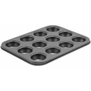 Winco - CMF-12M - 12 Cup Mini Muffin Pan, 3/4oz, Non-stick, Carbon Steel - Bakeware - Maltese & Co New and Used  restaurant Equipment