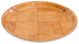 "Crestware - CWPR10 - 10"" Woven Wood Round Tray - Maltese & Co New and Used  restaurant Equipment"