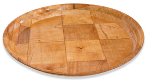 "Crestware - CWPR11 - 11"" Woven Wood Round Tray - Maltese & Co New and Used  restaurant Equipment"