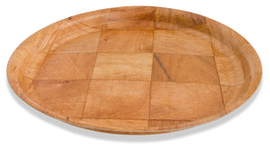 "Crestware - CWPR12 - 12"" Woven Wood Round Tray - Maltese & Co New and Used  restaurant Equipment"