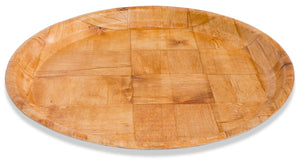 "Crestware - CWPR13 - 13"" Woven Wood Round Tray - Maltese & Co New and Used  restaurant Equipment"