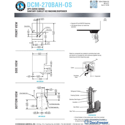 hoshizaki dcm 270bah os ice maker air cooled ice and water dispens rh malteseandco com hoshizaki - Hoshizaki Ice Machine Parts