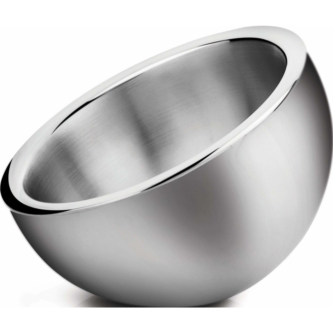 Winco - DWAB-L - 2-1/4qt Angled Display Bowl, Double Wall Insulated, Stainless Steel - Display
