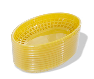 Crestware - FFB96Y - Yellow Fast Food Basket - Maltese & Co New and Used  restaurant Equipment