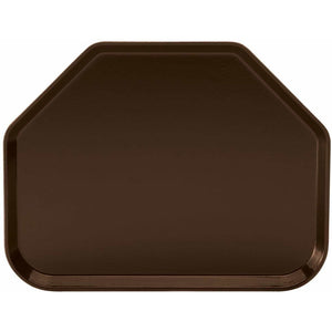 "Winco - FGTT-1814B - Fiberglass Tray, Trapezoid, 18"" x 14"", Brown - Dining Service - Maltese & Co New and Used  restaurant Equipment"