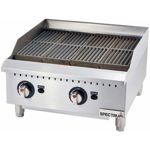 Winco - GCB-24R - Spectrum Gas Broiler / Radiant + 1 set conversion kit - Countertop