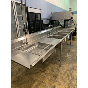 USED EAGLE GROUP FOUR COMPARTMENT SINK
