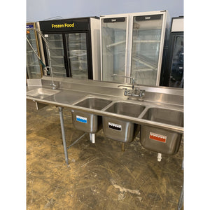 USED EAGLE GROUP FOUR COMPARTMENT SINK - Maltese & Co New and Used  restaurant Equipment