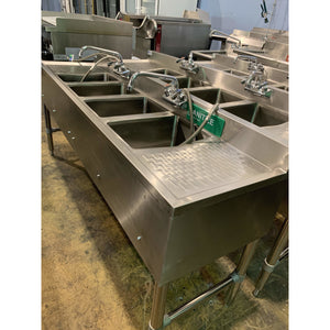 USED SANI SAFE commercial 4 compartment sink STD2 - Maltese & Co New and Used  restaurant Equipment
