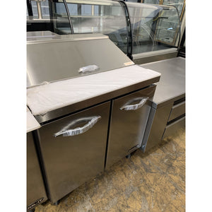 "Sandwich/Salad Prep Table, two-section, 61"" ISP61 - Maltese & Co New and Used  restaurant Equipment"