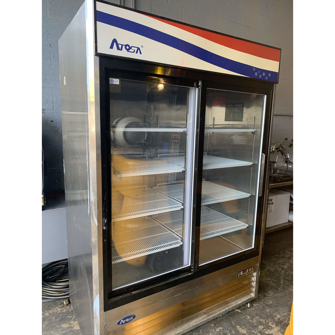 USED ATOSA TWO SLIDING GLASS DOOR COOLER MCF8709