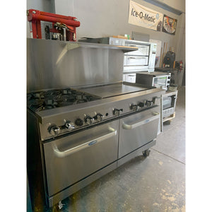 "USED ATOSA RANGE 4 BURNERS 36"" GRILL GAS ATO-36G4B"