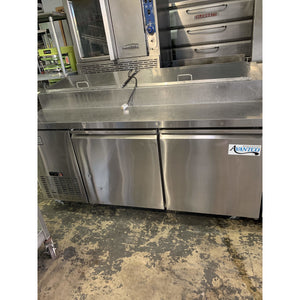 Used - Avantco 2 Door Refrigerated Pizza Prep Table 178APP71HC - Maltese & Co New and Used  restaurant Equipment