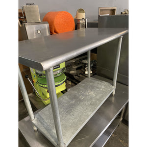 USED ADVANCE TABCO WORK TABLE 48x24 (ELAG-244) - Maltese & Co New and Used  restaurant Equipment