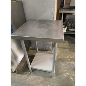 "USED WORK TABLE 24""W x 24""D"