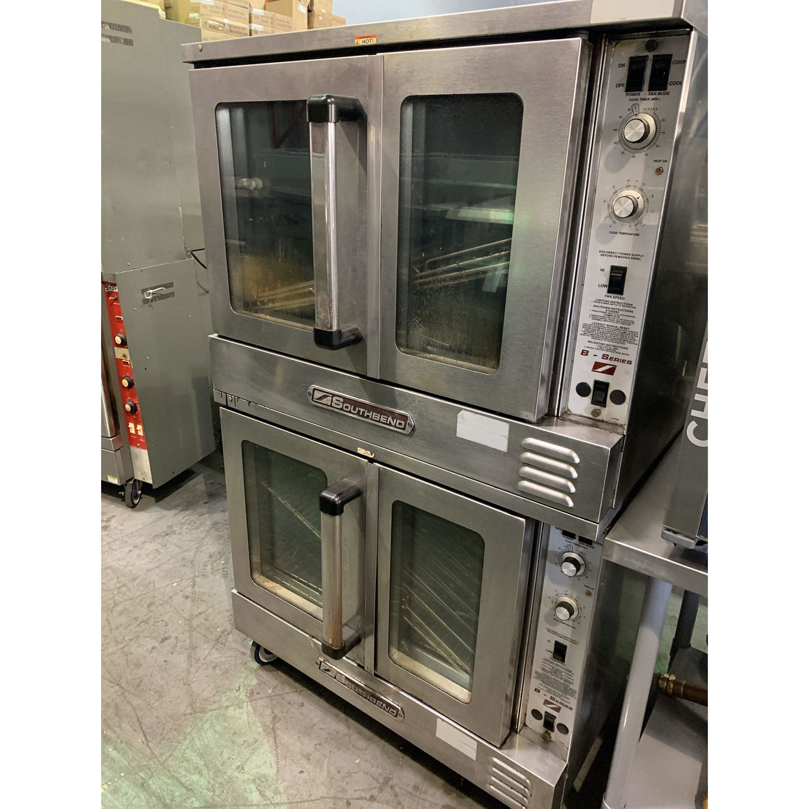 USED SOUTHBEND DOUBLE DECK CONVECTION OVEN BGS/22SC