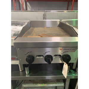 "Venancio - 18"" Gas Griddle - 3 Manual Controls - CG18-3 - Maltese & Co New and Used  restaurant Equipment"