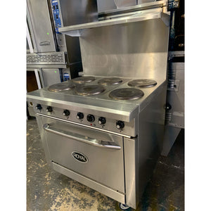 "ROYAL RESTAURANT RANGE ELECTRIC 36""  RRE-6 - Maltese & Co New and Used  restaurant Equipment"