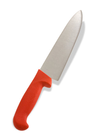 "Crestware - KN30R - 8"" Cooks Knife, Red - Maltese & Co New and Used  restaurant Equipment"
