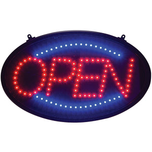 "Winco - LED-10 - LED Sign, ""Open"", 3 Pattern, Dust Cover - Dining Service - Maltese & Co New and Used  restaurant Equipment"