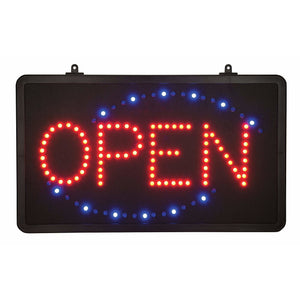 "Winco - LED-6 - LED Sign, ""Open"", Single Pattern - Dining Service - Maltese & Co New and Used  restaurant Equipment"