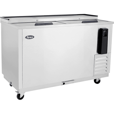 Atosa - 50'' Bottle Cooler - Stainless Steel Exterior & Interior - 11.7 Cubic Ft - Maltese & Co New and Used  restaurant Equipment