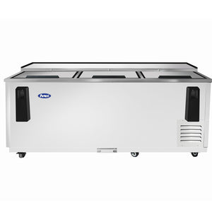 Atosa - 80'' Bottle Cooler - Stainless Steel Exterior & Interior - 21.2 Cubic Ft