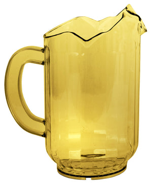 Crestware - P60ASP - 3 Spout 60 oz. Amber Pitcher - Maltese & Co New and Used  restaurant Equipment