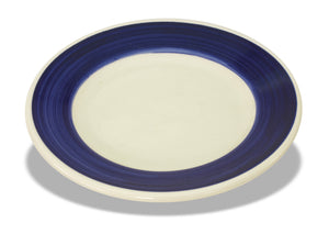 "Crestware - PIC44B - RE44 9"" Plate w/ Blue Rim - Maltese & Co New and Used  restaurant Equipment"