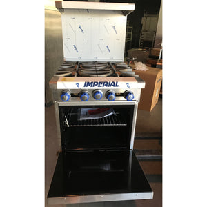 "IMPERIAL-NEW-24"" (4) FOUR BURNER RANGE WITH OVEN-IM-IR4-09165116-N"