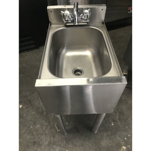"Used 12"" Under-bar Hand Sink Unit - Stainless Steel - NSF"