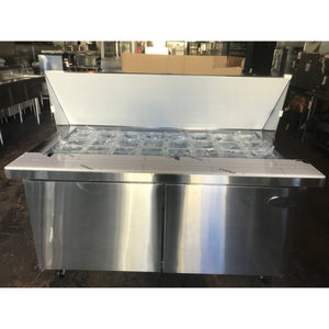 "Saba Air - (2) Two Door 60"" Mega Prep Table with Pans-SB-SPS6024M-72817-N - Maltese & Co New and Used  restaurant Equipment"
