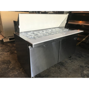 "Saba Air - (2) Two Door 60"" Mega Prep Table with Pans-SB-SPS6024M-72817-N"